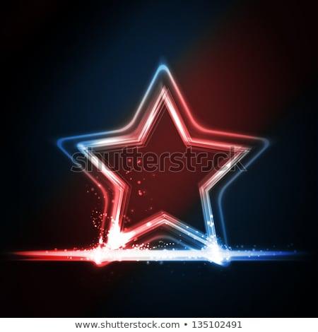 4th of july over shining american flag stock photo © marinini