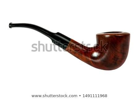 табак трубы белый черный ретро Vintage Сток-фото © lucielang