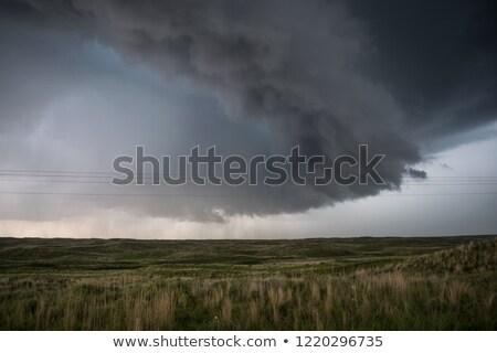 Viharfelhők égbolt este felhőkép tájkép háttér Stock fotó © BSANI