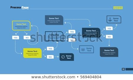 the flow chart Stock photo © flipfine