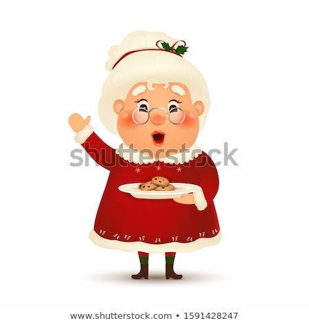 mrs claus with gift on white Stock photo © ssuaphoto