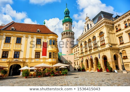 Historische architectuur Hongarije Europa gebouw stad muur Stockfoto © Spectral