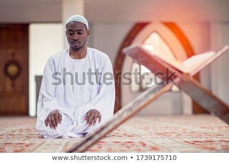ムスリム 男 祈り 実例 日没 祈る ストックフォト © adrenalina