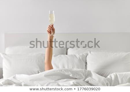 dois · óculos · champanhe · preto · coupe - foto stock © manera