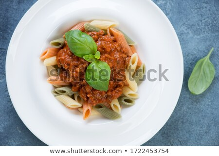 penne tricolore pasta stock photo © zhekos