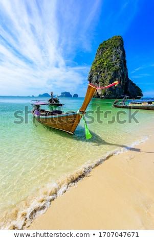 Calcário costa rochas Tailândia estranho natureza Foto stock © Mps197