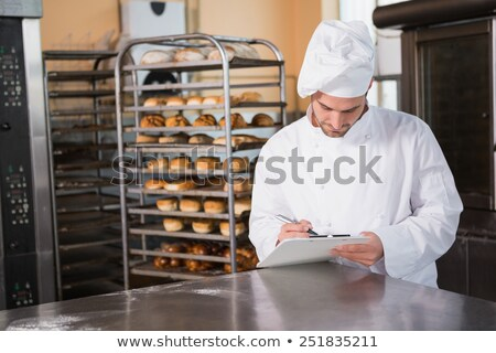 Fókuszált pék ír vágólap konyha pékség Stock fotó © wavebreak_media