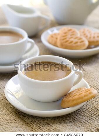 Fresh coffee with cookie espresso macchiato Stock photo © Lighthunter