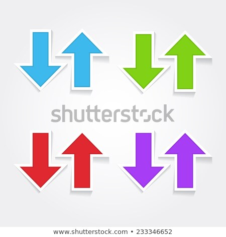 Up Down Arrow Coloful Vector Icon Design Stock photo © rizwanali3d
