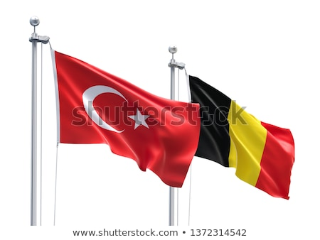 Turkey and Belgium Flags Stock photo © Istanbul2009