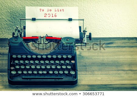 goals 2016 list stock photo © ivelin