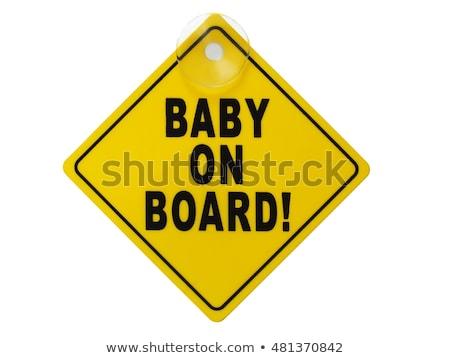 Child On Board Sign Stock fotó © ajt