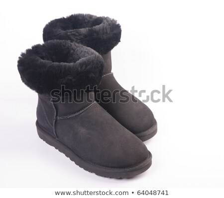 Fluffy woolly warm boots  Stock photo © shutswis