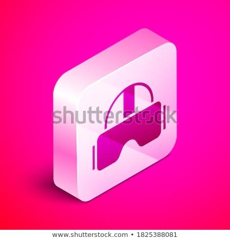 Helmet Pink Vector Button Icon Stock photo © rizwanali3d