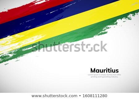 Mauritius kraju banderą Pokaż tekst Zdjęcia stock © tony4urban