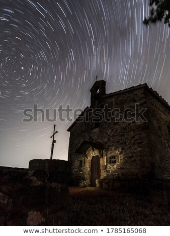 Star Trails Night Photography Abandoned Building Stock photo © pictureguy