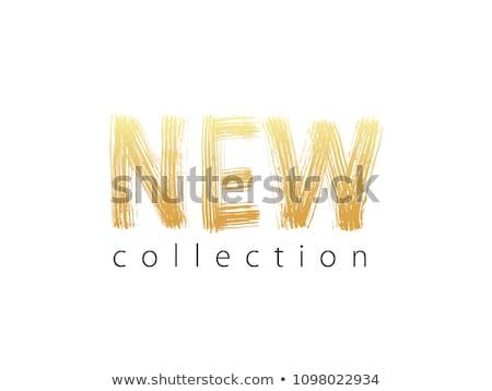 Stok fotoğraf: Yeni · toplama · altın · vektör · ikon · dizayn