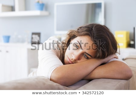 Lonely Sad Woman Deep In Thoughts Stock photo © dash