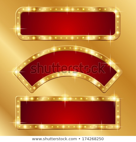 klassz · szett · kaszinó · bannerek · szív · piros - stock fotó © carodi