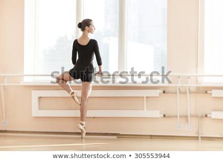 permanente · een · teen · bevallig · ballerina · been - stockfoto © deandrobot