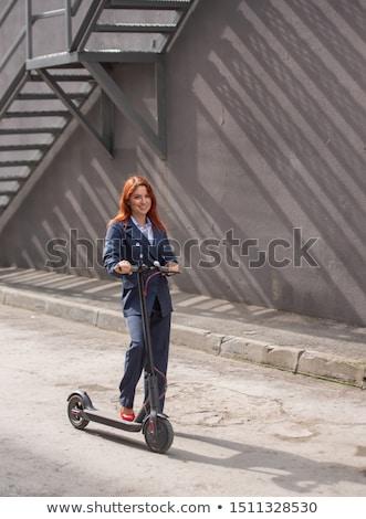 Classic kick scooter. Stock photo © RAStudio