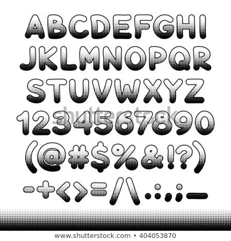 Képregény betűtípus fekete nyomtatott retro terv Stock fotó © Voysla