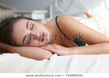 pretty girl going to sleep on her couch Stock photo © Giulio_Fornasar