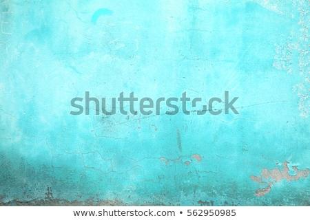 Mavi eski duvar bağbozumu doku soyut Stok fotoğraf © zven0