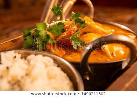 frango · comida · indiana · receita · temperos · textura · laranja - foto stock © studiotrebuchet