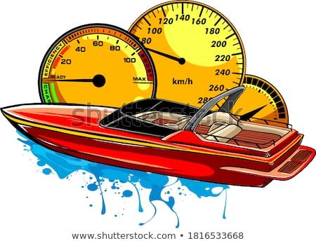 Motorcsónak rajz ikon vektor izolált kézzel rajzolt Stock fotó © RAStudio