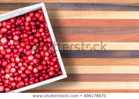 Carton or fresh ripe red sour cranberries Stock photo © ozgur