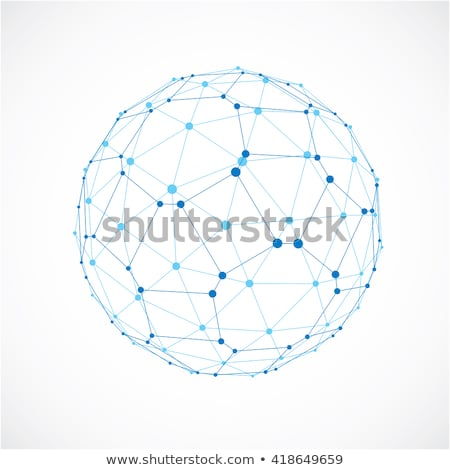 digital sphere made with lines mesh vector design illustration stock photo © sarts