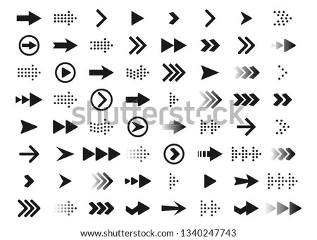 Large collection of pointer and icon with symbols Stock photo © blue-pen