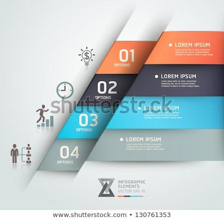 Negócio infográficos origami estilo bulbo Foto stock © rwgusev