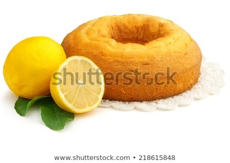 lemon curd on lemon pound cake stock photo © stephaniefrey