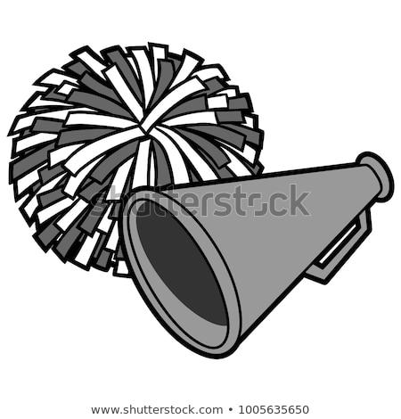 Cheerleader pom poms and megaphone Stock photo © njnightsky