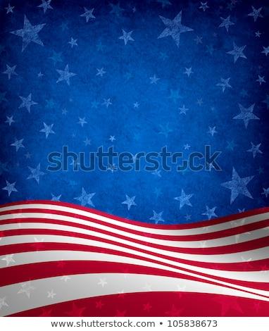 Гранж полосатый звездой иллюстрация текстуры фон Сток-фото © illustrart