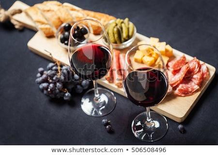 ワイン 表 ドリンク チーズ ディナー 秋 ストックフォト © M-studio