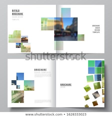 Elegante verde brochure magazine coprire pagina Foto d'archivio © SArts