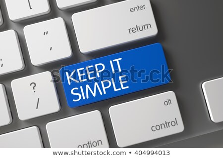 Keep IT Simple - PC Button. 3D. Stock photo © tashatuvango