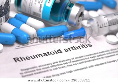 Rheumatoid Arthritis Diagnosis. Medical Concept. 3D Render. Stock photo © tashatuvango
