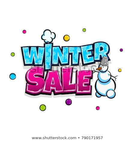 Hot price winter sale text labels Stock photo © blumer1979