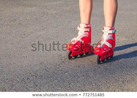 Piernas joven nino mujer carretera calle Foto stock © Nobilior