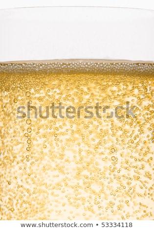 üveg · citromsárga · pezsgő · csobbanások · buborékok · fehér - stock fotó © denismart