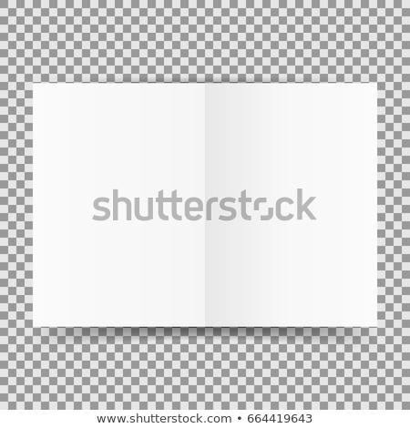 Bianco trasparente modello ombra vuota muro Foto d'archivio © romvo