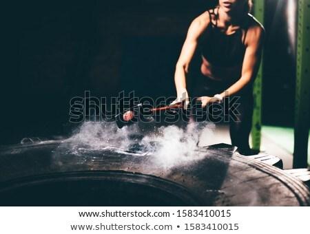 Pneu fitness estúdio esportes exercer Foto stock © wavebreak_media