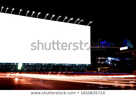 Spotlight Sky Night City Board Stock photo © lenm