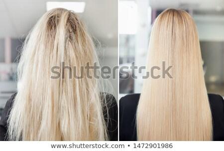 blond hair woman white sickness stock photo © toyotoyo