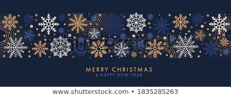 陽気な · クリスマス · 暗い · 冬 · 印刷 · カード - ストックフォト © solarseven