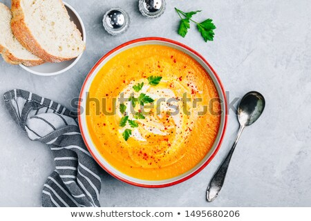 Homemade Organic Butternut Squash Soup Stock photo © mpessaris